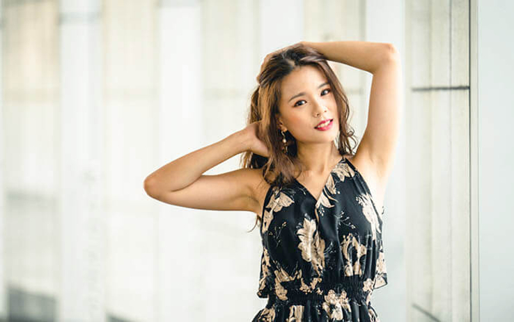 filipino beautiful girl with long hair